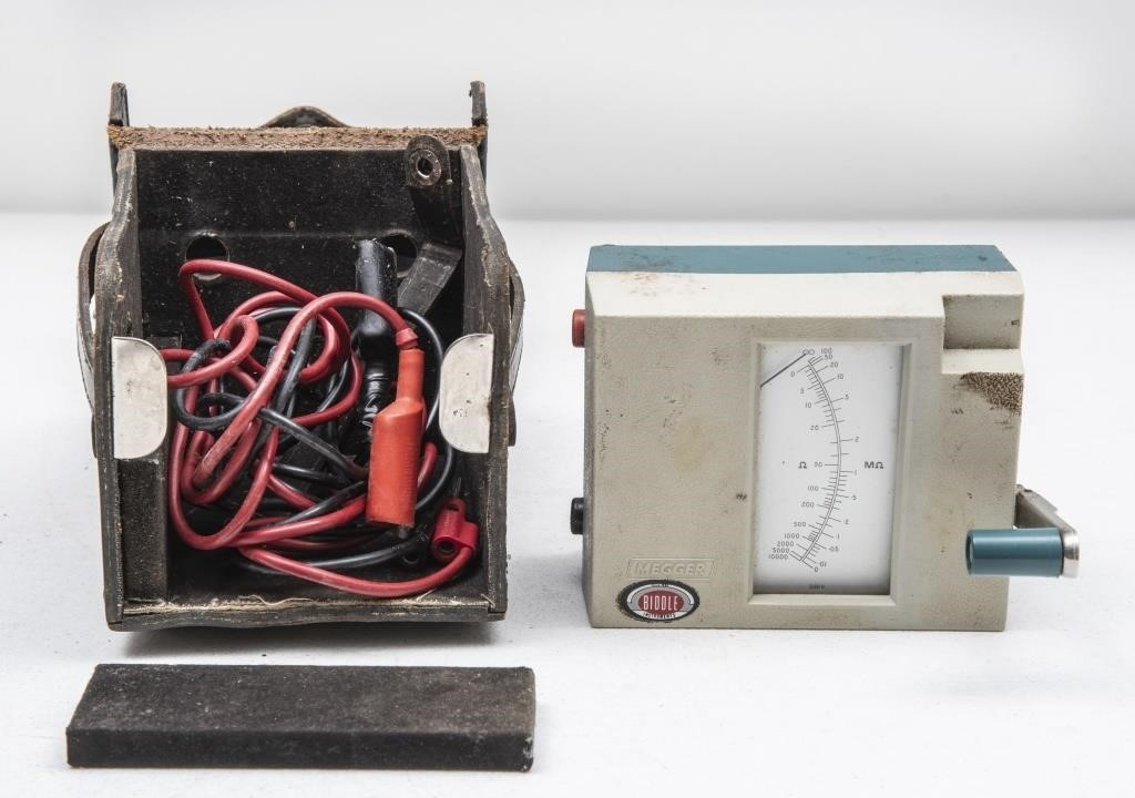 Megger Biddle Hand Crank Insulation Tester In Case The K And B Auction Company