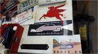 Darvin Cloin Estate Tools Power King Tractor Signs Collectib