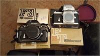 Nikon cameras and 1,000mm lens