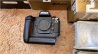 Nikon camera lot including lens and Fuji digital.