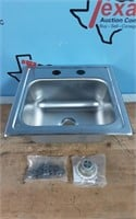 Drop-in Stainless Steel 15 in. Sink Only