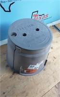"""SPLICE BOX 10"""" ROUND GRAY W/CVR"""