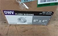 "6""X4"" DWV FLUSH BUSHING SPGXH"