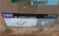 """6"""" DWV 45 DEG EL STREET HXSPG"""