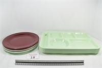 (3) Boonton Plates & (5) Edward Don Trays
