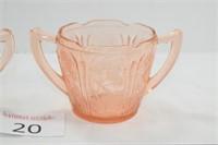 Cherry Blossom Pattern Depression Glass