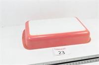 Pink Pyrex Pan w/ Holder