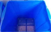 LOT OF TWO 22GAL RECYCLE BINS