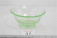 Green Depression Glass bowl