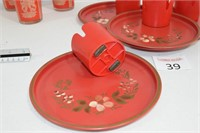 Red Libby Glasses & Magnetic Cup Holders