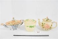 Tea Pots & Stoneware Casserole