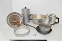 Food Mill, Strainer, & Coffee Pots