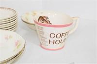 Comical Coffee Cups & Saucers