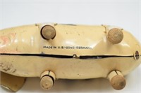 Antique Metal Toy Wind Up Pig