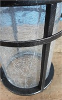LED MD WALL LANTERN CRAKLE GLASS DNI