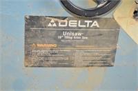 "Delta 10"" Unisaw Tilting Saw *Scheduled Pick up"