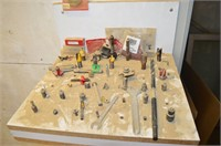 """Assorted 1/4"""" & 1/2"""" Router Bits, clock"""