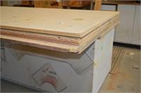 Wooden Work Bench with storage