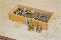 Box of Mastercraft Forstner  Drill Bits
