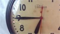 Vintage 16 inch Telechron electric clock works