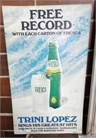 """27""""x16"""" 1967 FRFSCA sign Coca-Cola Co."""
