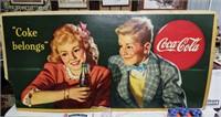 """56""""x27.5"""" Coca-Cola sign"""