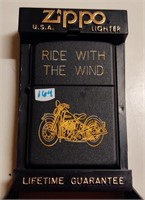 "Zippo ""Ride with the Wind"" lighter - unused"