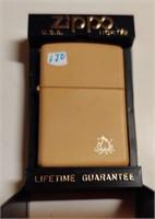 Zippo tan campfire lighter - unused