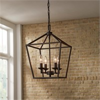 WEYBURN 4LT CAGED CHANDELIER