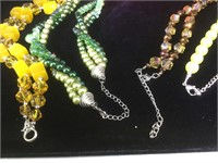 4 vintage costume necklaces from the Catherine