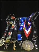 Assortment of 6 lanyards - spots teams and