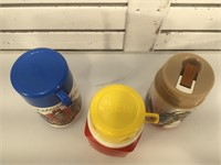 Lot of 3 80's and 90's thermos incl. Power