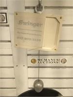 Swinger hanging mirror w adjustable height
