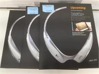 3 NIB Upcoming Wireless Stereo Neck-Band Earset
