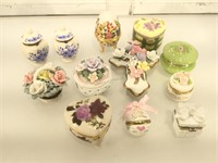 Lot of trinket boxes Mostly flower thematic