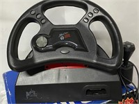 Mad Catz steering wheel and gas pedals for