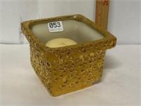 22 karat gold plated candle holder