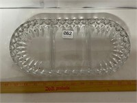 Heavy glass nut dish