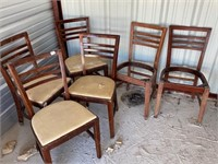 6 sturdy antique chairs -40