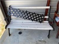 park bench -25   back needs put back on
