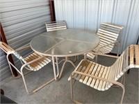patio table -25  needs love yet bones are good