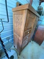 Oak chifferobe- 55   nice piece- drawers work as