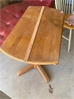 small wood drop leaf table  -55