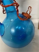 beautiful blue decanter- possible hand blown