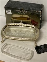 silver plate butter dish