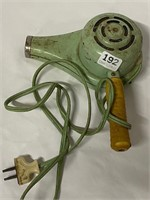 vintage hair dryer for decor or make a lamp for