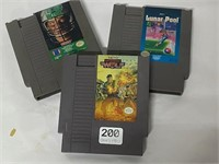 3 Nintendo games- untested