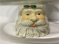 Christmas cake or cookie plate and Santa- needs