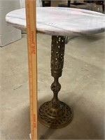 marble top side table - base needs re-attached