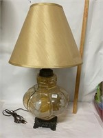 Gorgeous lamp- untested- must need new bulbs